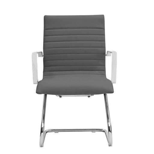 Chair - Zatto | Visitor Chair | Grey Leather