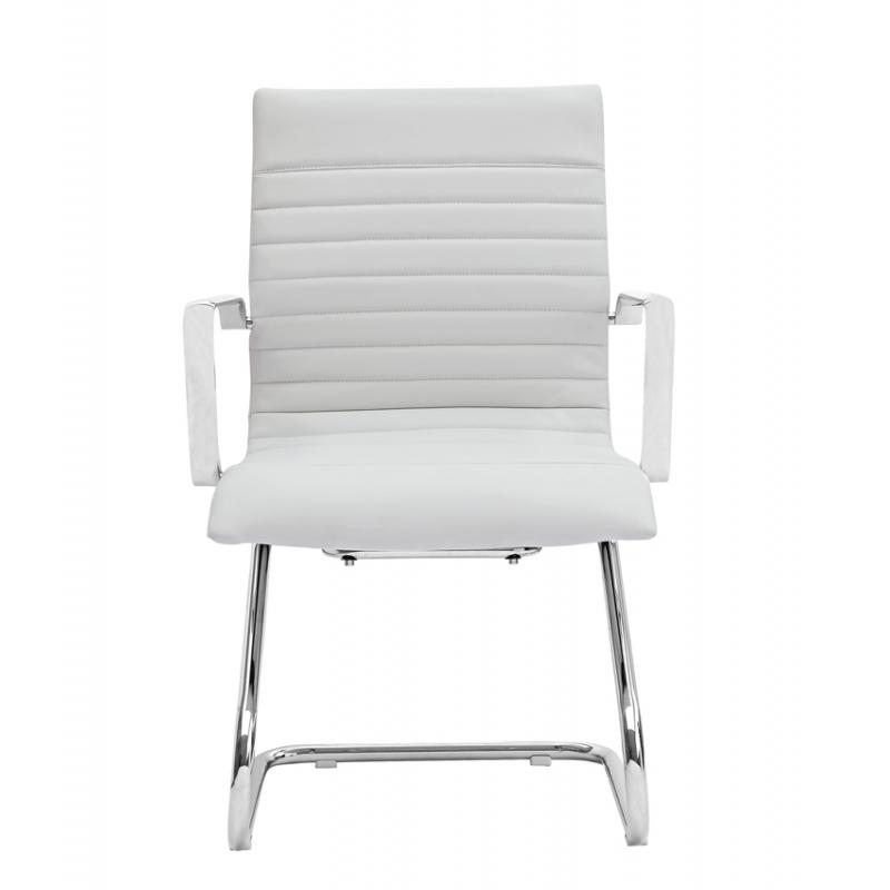 Chair - Zatto | Visitor Chair | White Leather