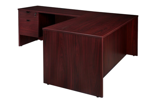 "Desk - Carmel | 30""x66"" L-Shaped Desk With Suspended Pedestals"