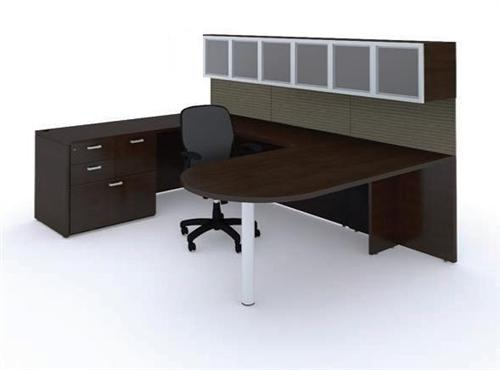 Desk - Costa Mesa U-Desk | Bullet Shape Configuration