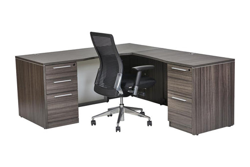 "Desk - Santa Monica L-Shaped Desk With 48"" Return"