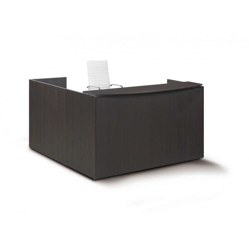 Desk - Santa Monica Reception Desk With Laminate Transactional Floated Top