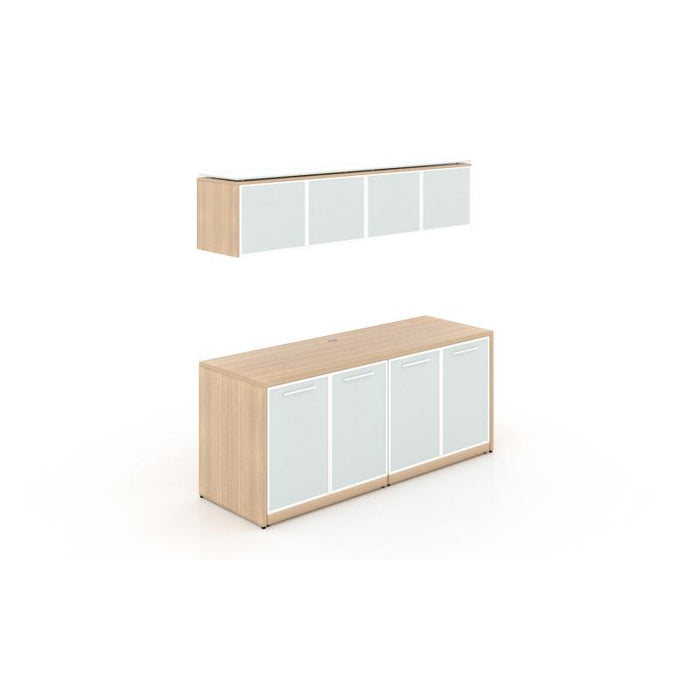 Storage - Santa Monica | Double Credenza With Glass Doors
