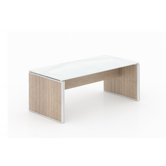 Table - Santa Monica | Coffee Table | White Glass Top