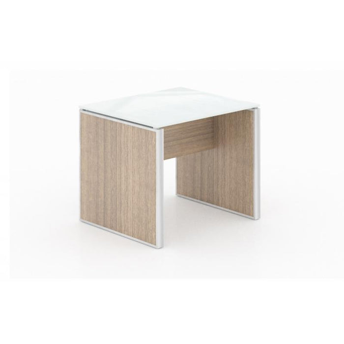 Table - Santa Monica | End Table | White Glass Top