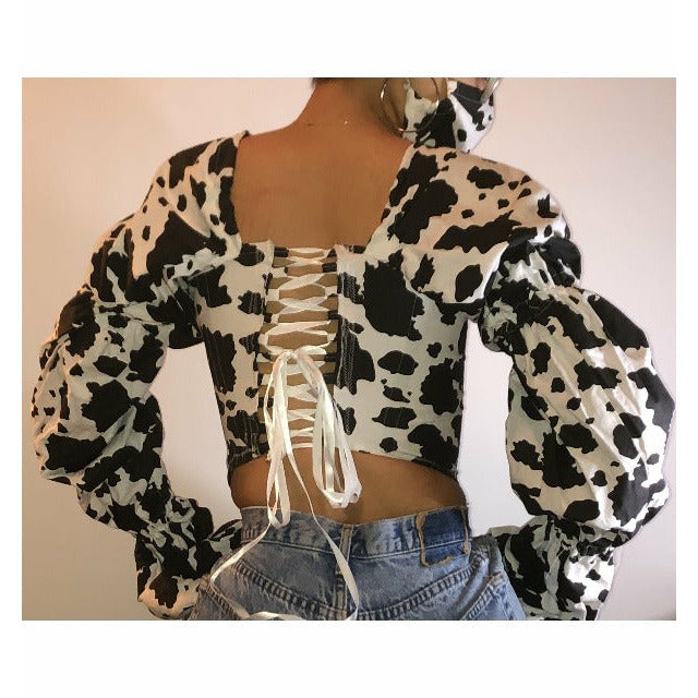 Cow girl corset top