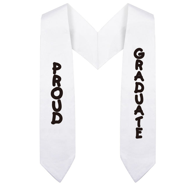 White Preschool & Kindergarten Imprinted Graduation Stole - Stoles.com