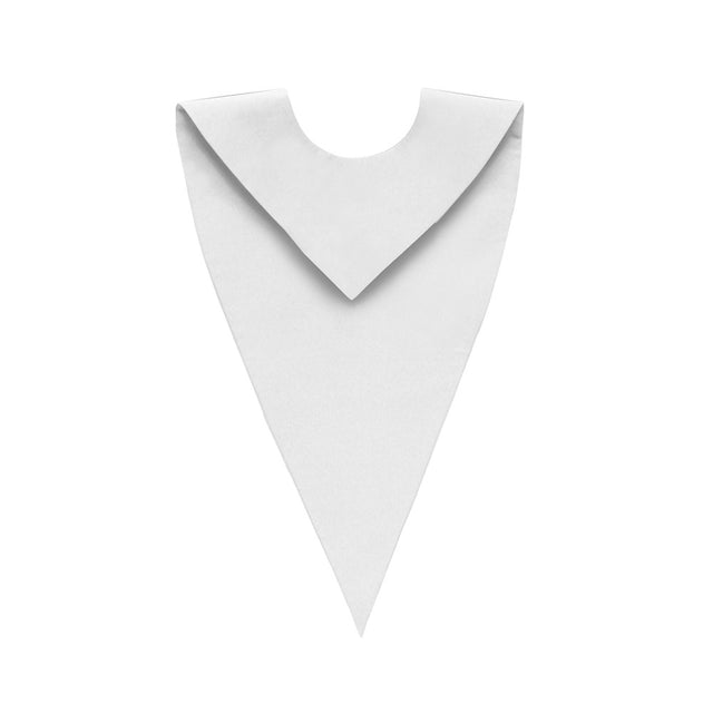 White V-Neck Choir Stole - Stoles.com