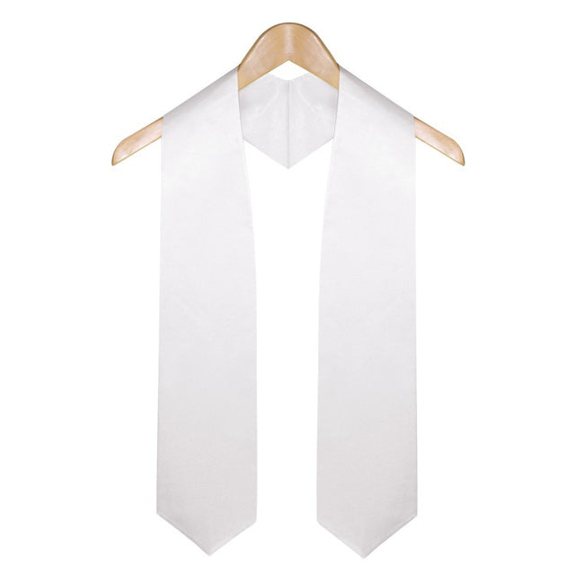 White University & College Graduation Stole - Stoles.com