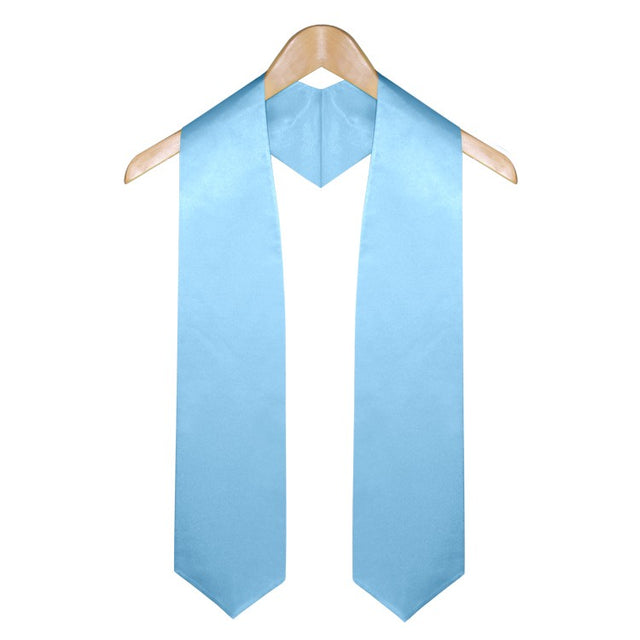 Light Blue University & College Graduation Stole - Stoles.com