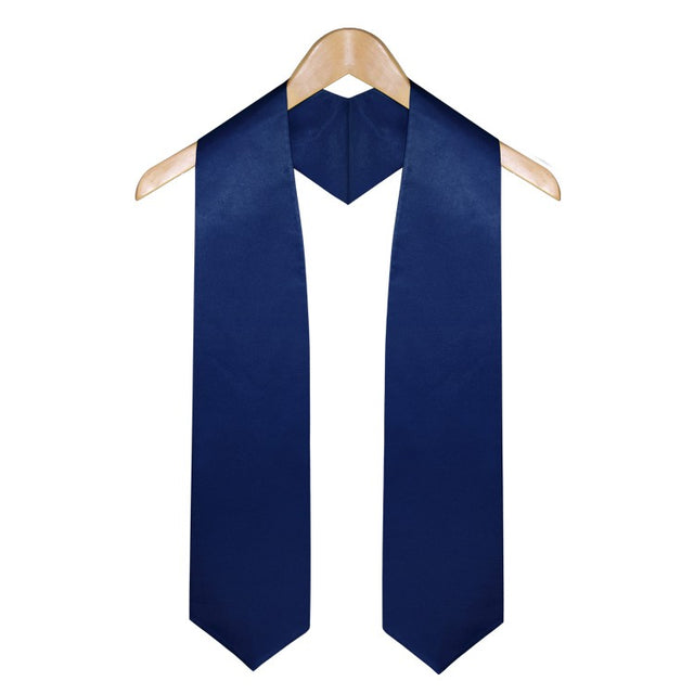 Navy Blue High School Graduation Stole - Stoles.com