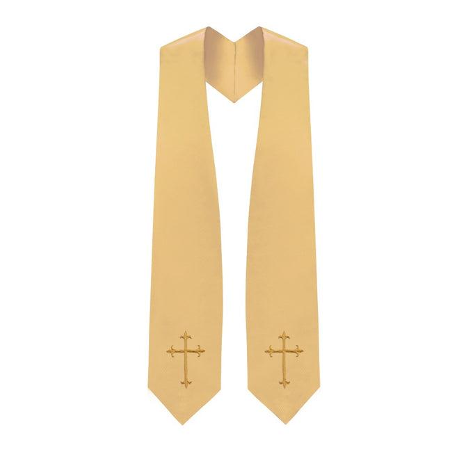 Antique Gold Choir Stole with Crosses - Stoles.com