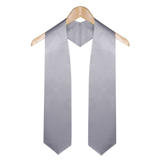 Silver Elementary & Middle School Graduation Stole - Stoles.com