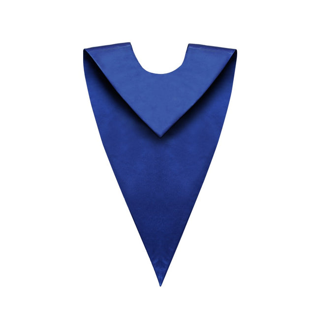 Satin Royal Blue V-Neck Choir Stole - Stoles.com