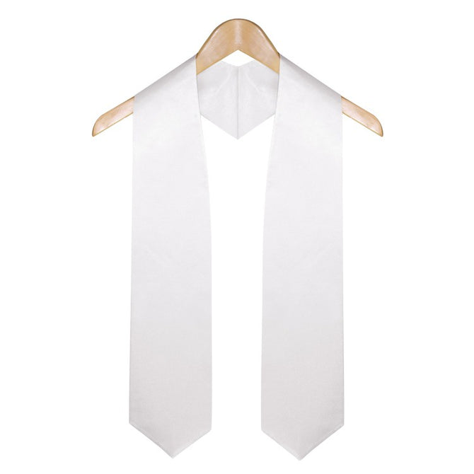 White High School Graduation Stole - Stoles.com