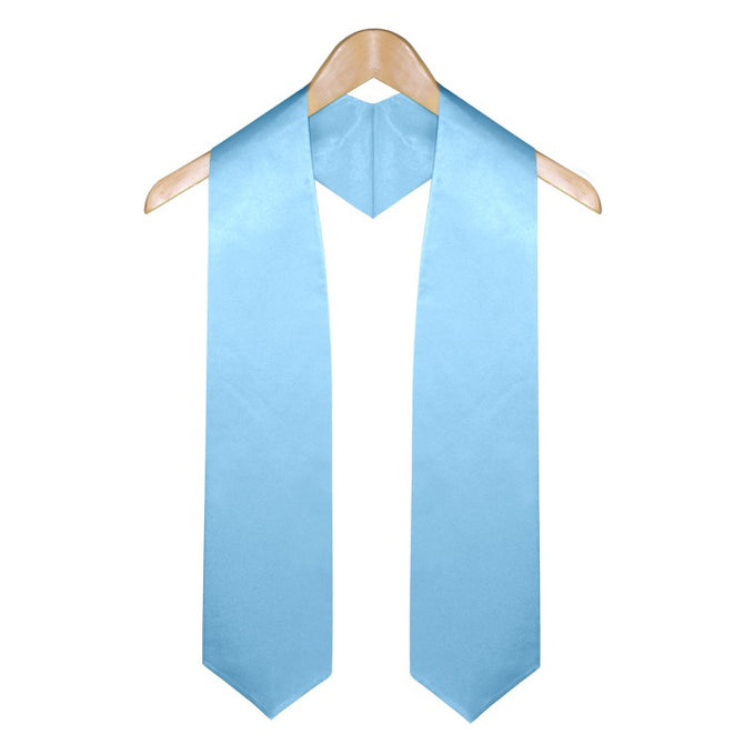 Light Blue Graduation Stole - Stoles.com