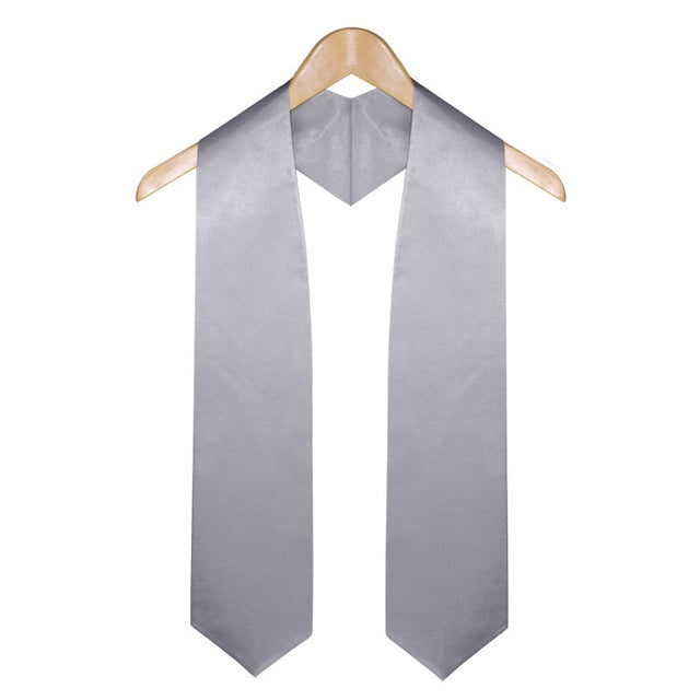 Silver High School Graduation Stole - Stoles.com