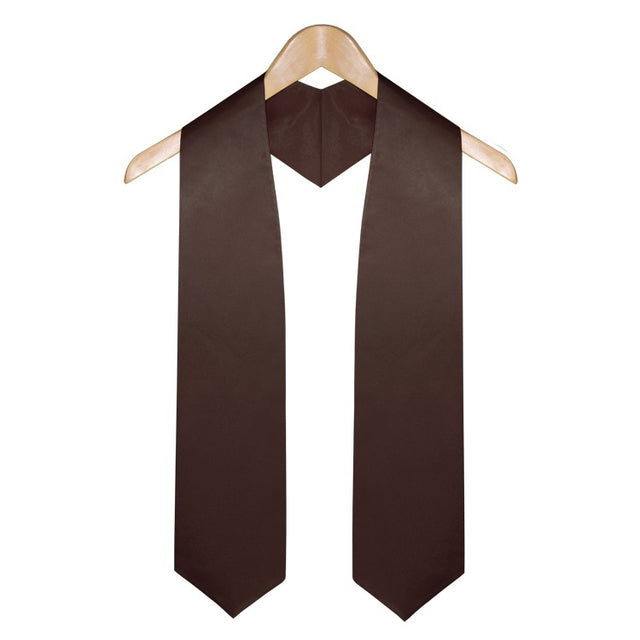 Brown Graduation Stole - Stoles.com