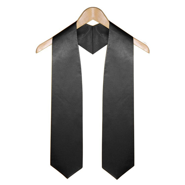 Black University & College Graduation Stole - Stoles.com