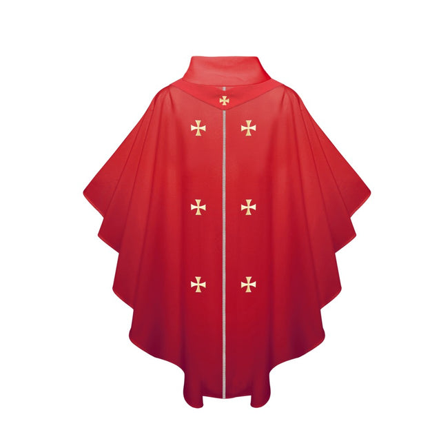 Red Chasuble - Stoles.com