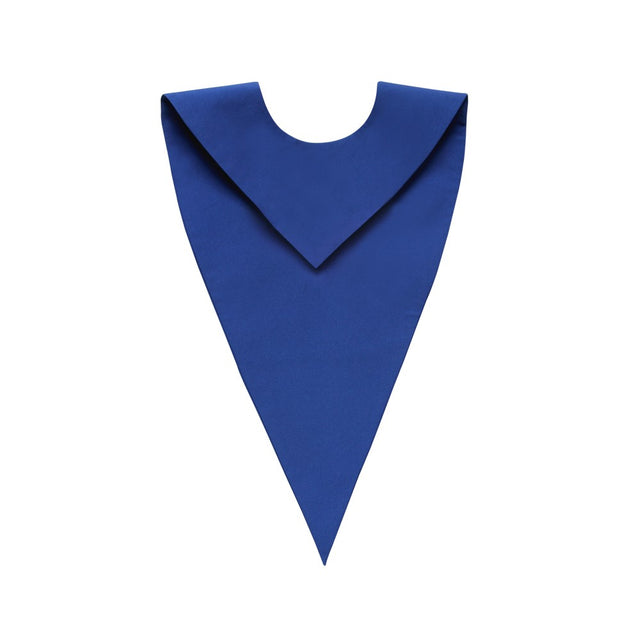 Matte Royal Blue V-Neck Choir Stole - Stoles.com