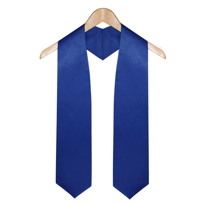 Royal Blue High School Graduation Stole - Stoles.com