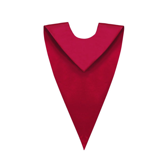 Matte Red V-Neck Choir Stole - Stoles.com