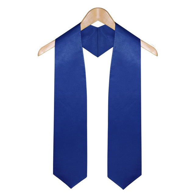 Royal Blue Graduation Stole - Stoles.com