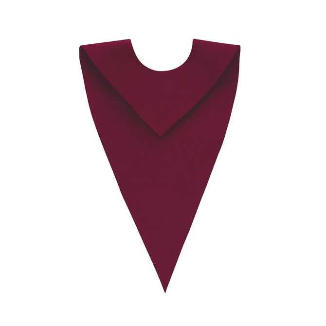 Satin Maroon V-Neck Choir Stole - Stoles.com