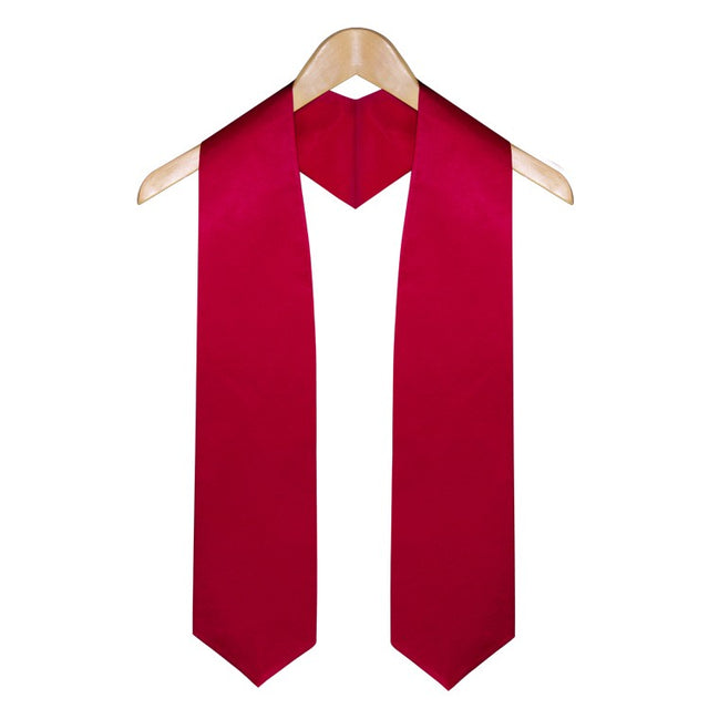 Red High School Graduation Stole - Stoles.com