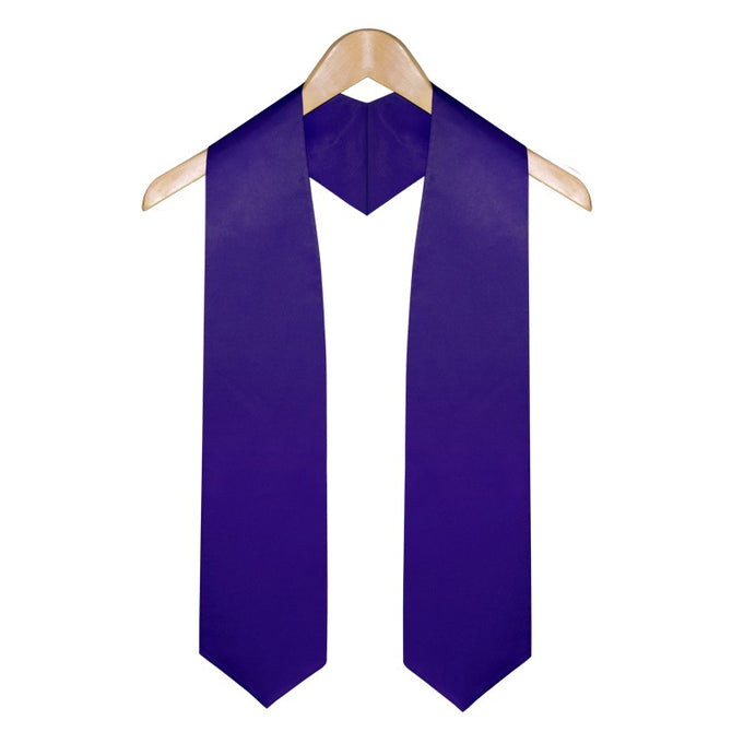 Purple Elementary & Middle School Graduation Stole - Stoles.com