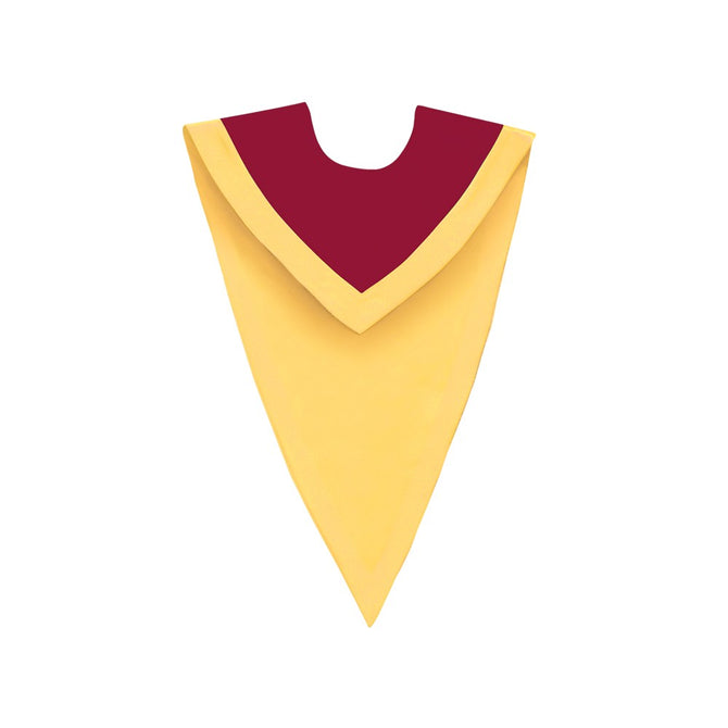 Maroon/Gold V-Neck Choir Stole - Stoles.com