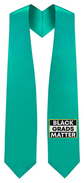Emerald Green BLACK GRADS MATTER Graduation Stole