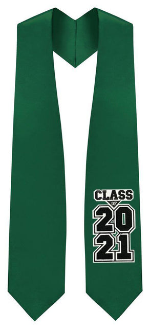 "Hunter Green ""Class of 2021"" Graduation Stole"