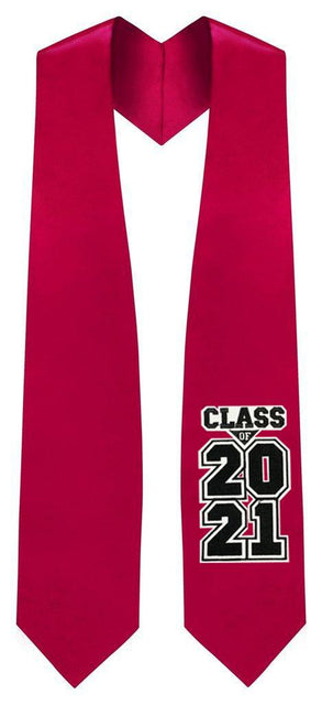 "Red ""Class of 2021"" Graduation Stole"