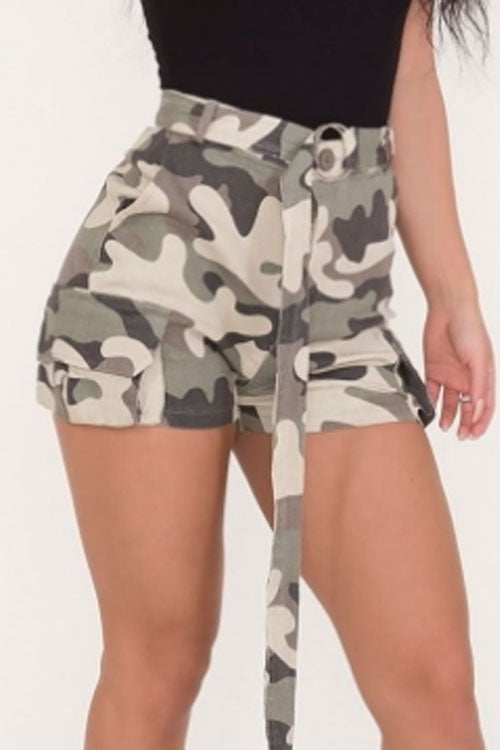 Trendylov Street High Rise Frock Style Beach Shorts(with belt)