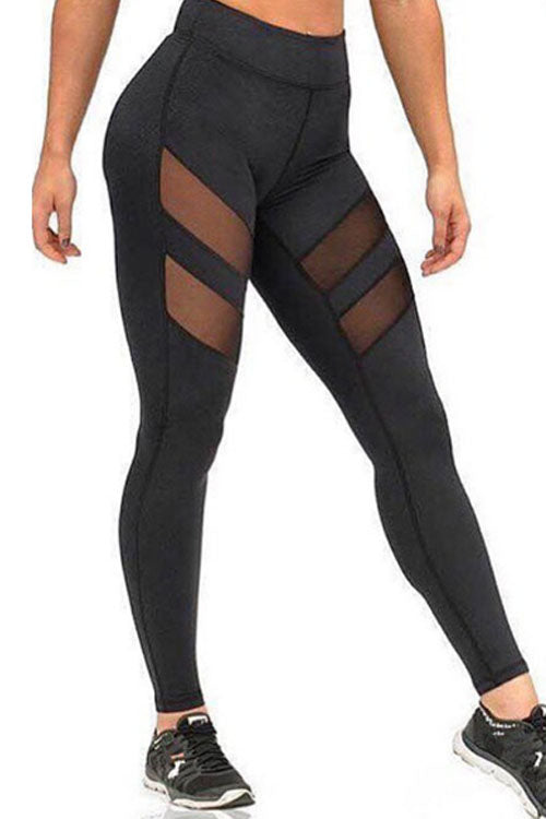 Trendylov Sporty High Rise See-through Yoga Pants
