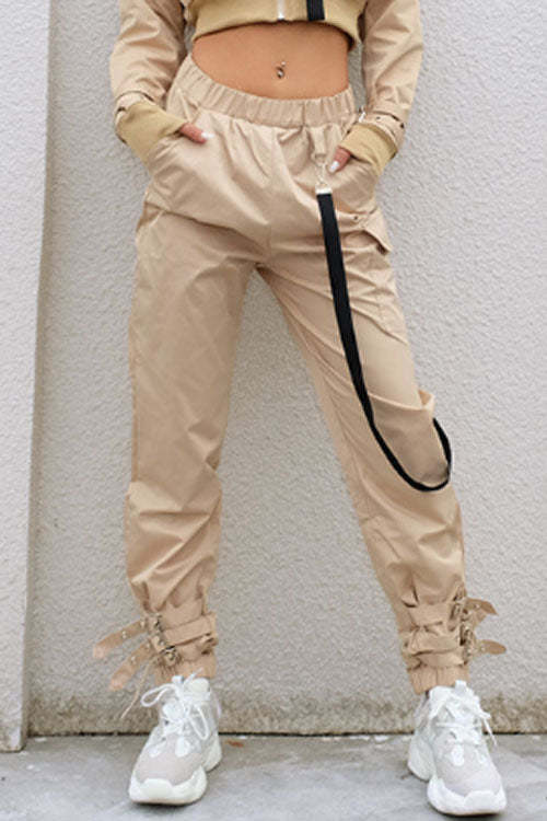 Trendylov Street Frock Style Ankle Banded Cargo Pants