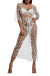 Trendylov Bohemian Polka Dot Tissue Tie Cover-up