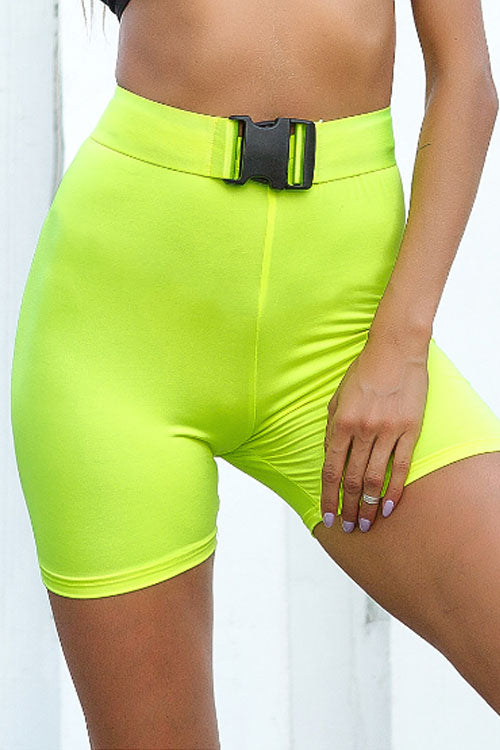 Trendylov Sporty High Rise Bike Shorts(with belt)