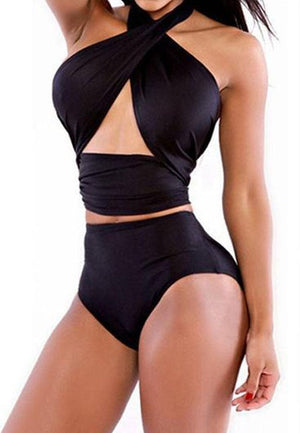 Backless Cross Wrapped Swimwear