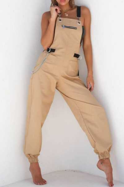 Trendylov Casual Frock Style Strap Jumpsuit