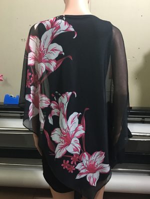Digital Print Plus Size Dress
