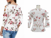Trendy Floral Sleeve Shirt