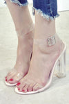 Trendylov Casual Sheer High-heeled Sandals
