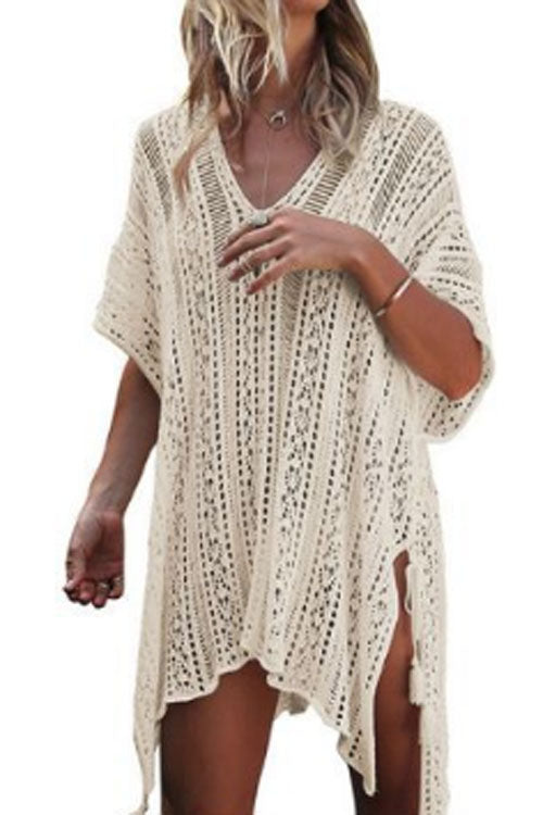 Trendylov Bohemian Knit Hollow Out Cover-up