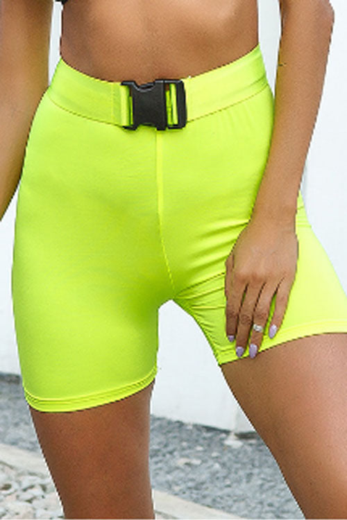 Suolory Sporty High Rise Bike Shorts(with belt)