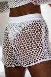 Trendylov Bohemian Hollow Out See-through Shorts