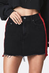 Trendylov Casual High Rise Color Patchwork Denim Skirt