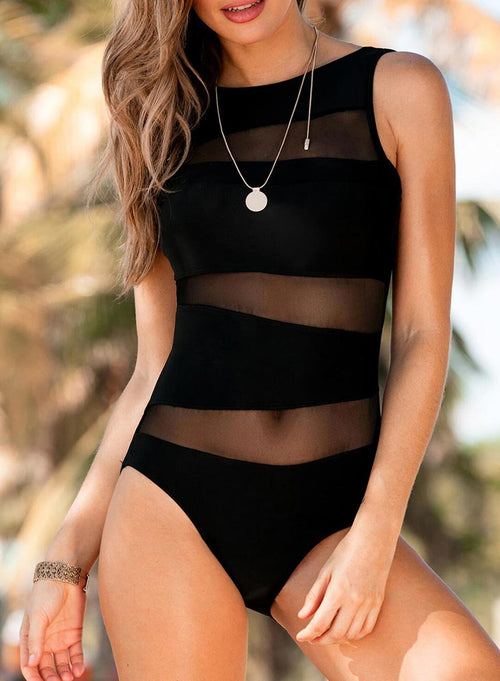 Women's Swimsuits Mesh One-piece Swimsuit